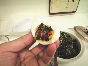 フリー薬味のニラ味噌キムチ