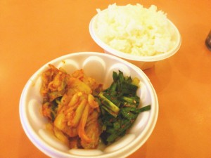 金龍白菜キムチとニラキムチ
