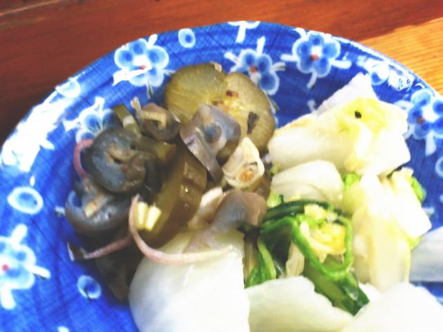 茄子と胡瓜の超塩分パンチ漬け