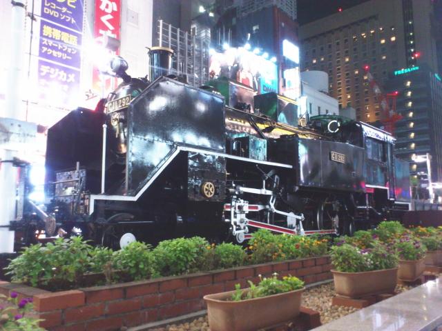 新橋SL広場のC11292。 タンク式蒸気機関車