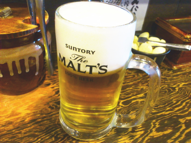 朝飲み生ビール!