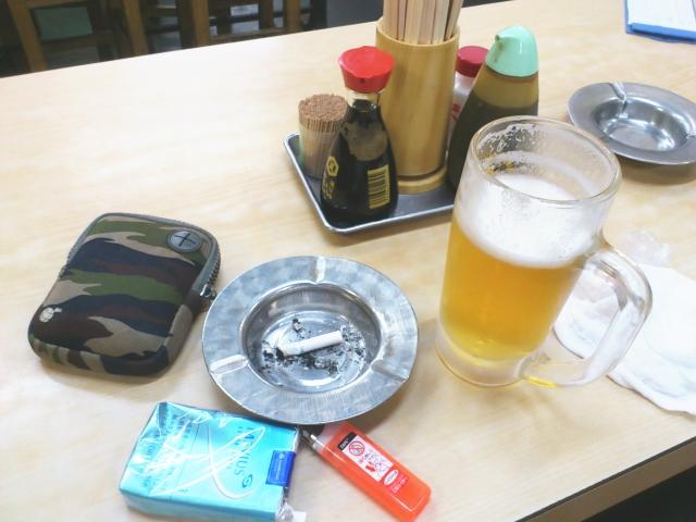 幸楽凸入で、 まず生ビール480円。