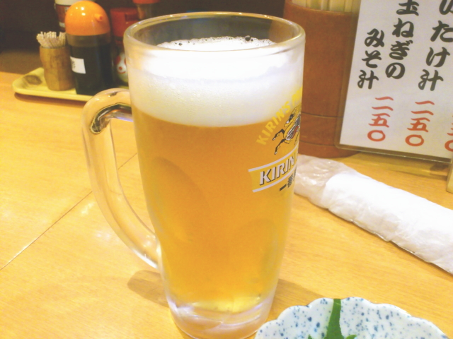 生ビール500円でんがな。 どや。