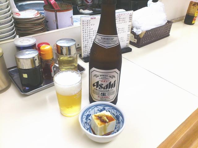 ビールには奴の付きだし。 ナイスぅ。